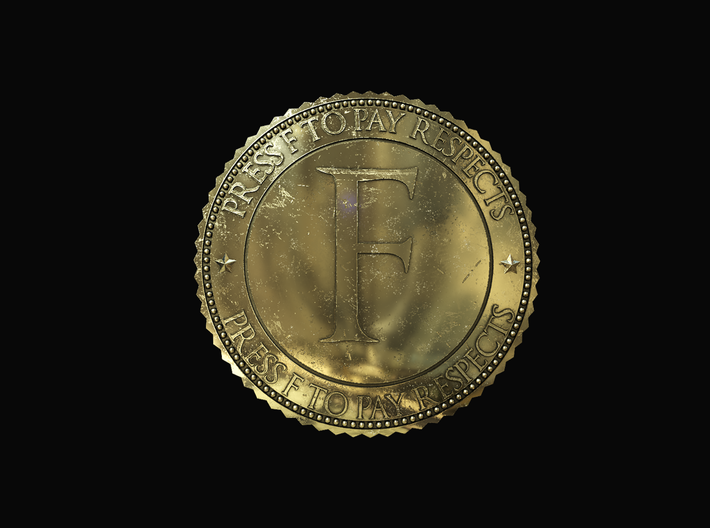 Respect Coin 3d printed