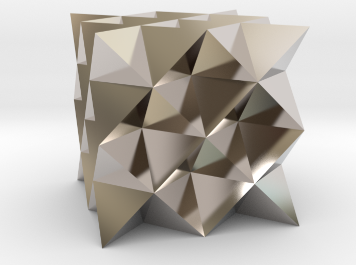 64 sided tetrahedron grid 3d printed