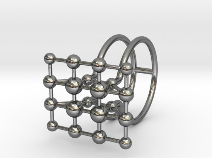 MOLECULA RING -SIZE 8 3d printed