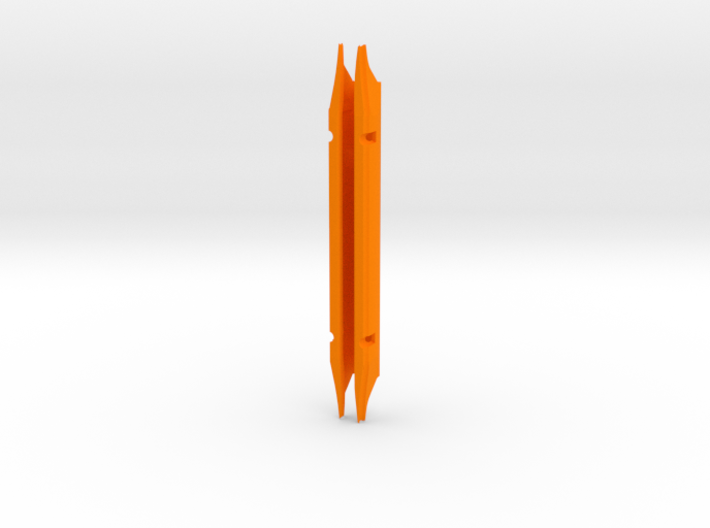 """M26M 6.7"""" (2003 to 2007) with spread slot 3d printed Orange is best for visual location."""