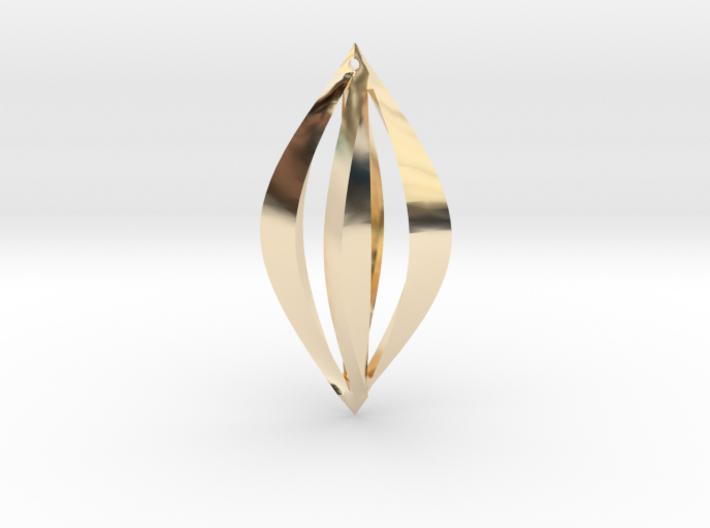Geometric Earrings 3d printed