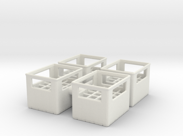 Bottle Crate (4 pieces) 1/24 3d printed