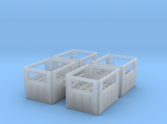 Bottle Crate (4 pieces) 1/56 3d printed