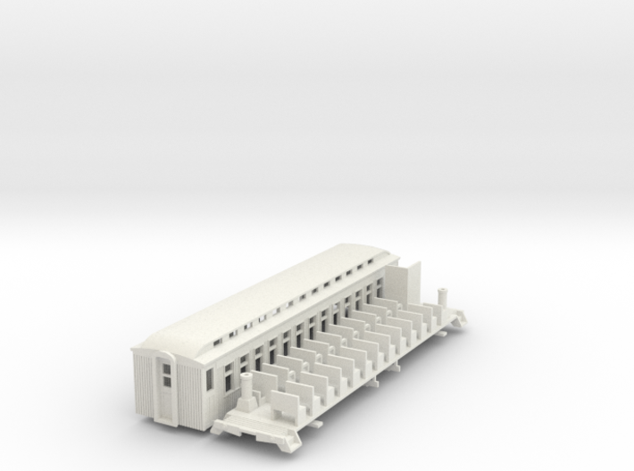 HOn3 40ft Coach F with Vestibules & Interior 3d printed