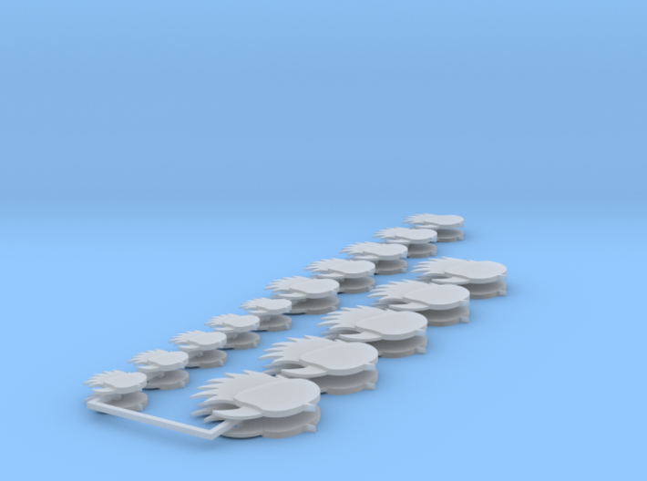Hawks icons various sizes 3d printed