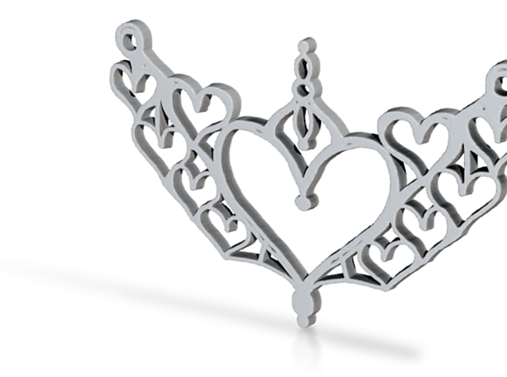 :Harmony of Hearts: Pendant 3d printed