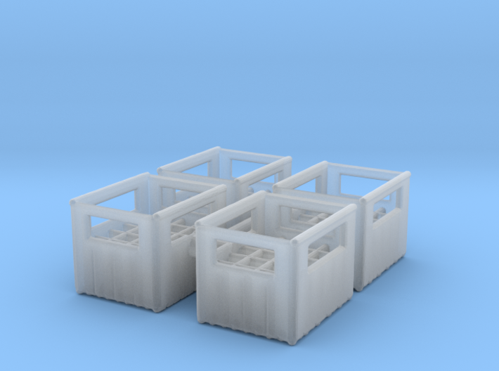 Bottle Crate (4 pieces) 1/87 3d printed
