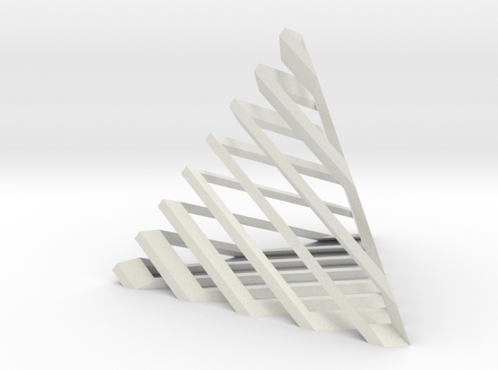 Striped tetrahedron no. 1 3d printed