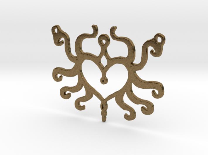 :Heart Tentacle: Pendant 3d printed