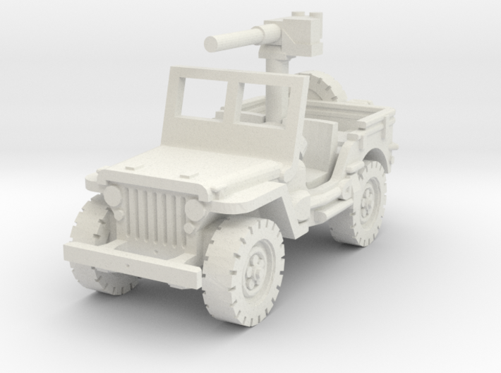 Jeep Willys 50 cal (window up) 1/72 3d printed