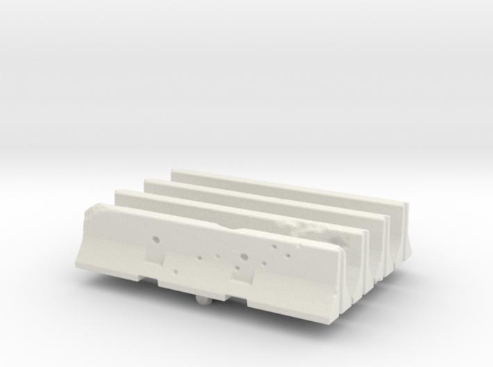 Jersey barrier (x4) 1/43 3d printed