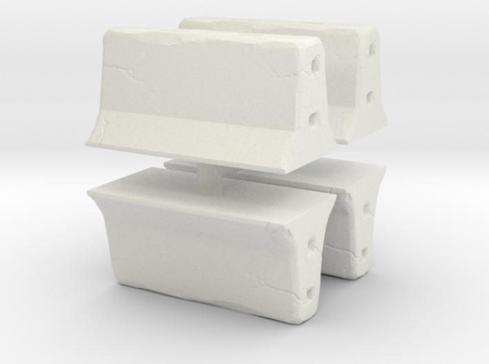 Concrete barrier (4 pieces) 1/100 3d printed