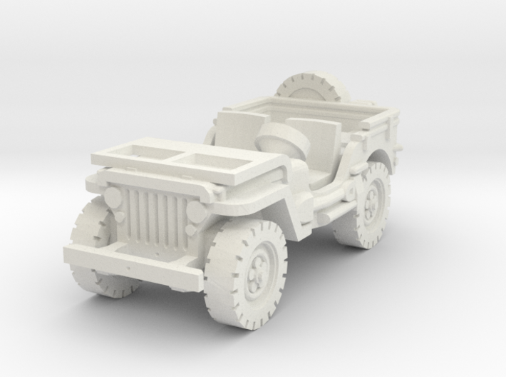 Jeep willys (window down) 1/100 3d printed