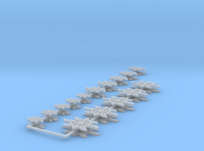Commission 95 icons various sizes 3d printed