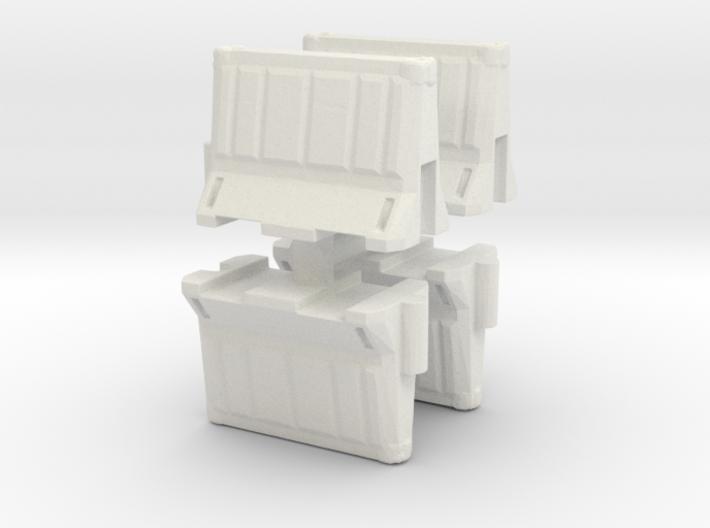 Interlocking traffic barrier (x4) 1/76 3d printed