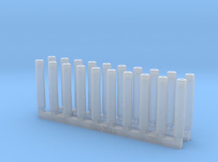 Bolt Rifle Suppressors Slots v2 x20 3d printed