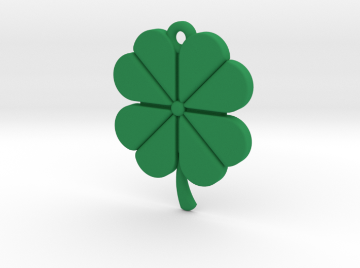 Pendant for Luck -- Four Leaf Clover 3d printed