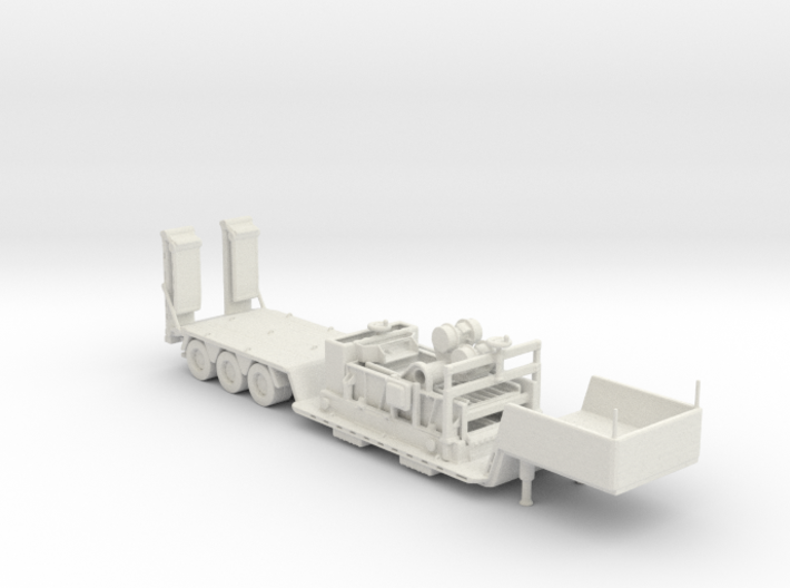 Shaker on old fishbelly lowboy 160 scale 3d printed