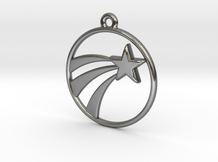 A Lucky Pendant of a   Shooting Star ⭐️ 3d printed