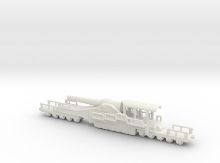 french 320mm railway artillery alvf 1/285 6mm 3d printed