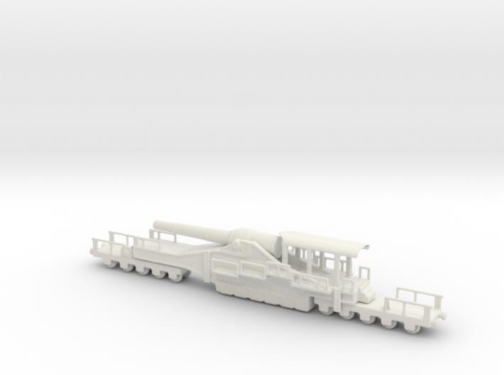 french 320mm railway artillery alvf 1/100 3d printed