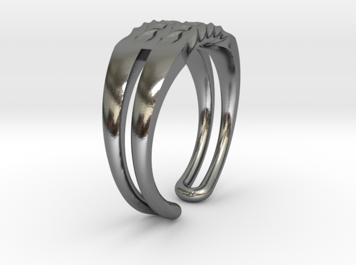 Twisted ring 3d printed
