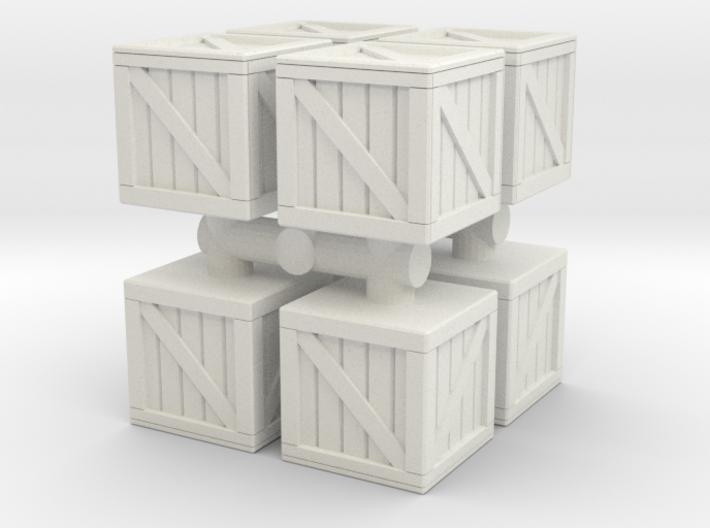 Wood crate prop (x8) 1/76 3d printed