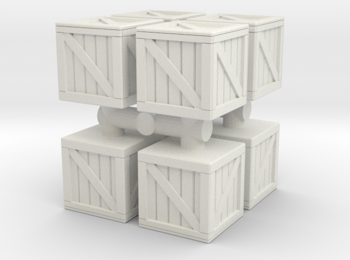 Wood crate prop (x8) 1/120 3d printed