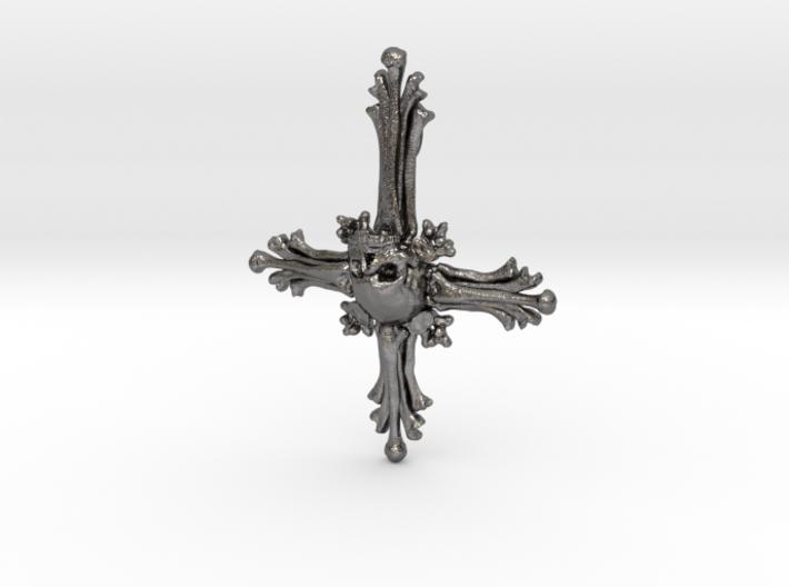 Inverted Cross Bone Pendant 3d printed