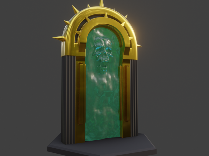 Dark Portal Version A 3d printed This shows a coloration-example (CG Render from 3D modeling app)