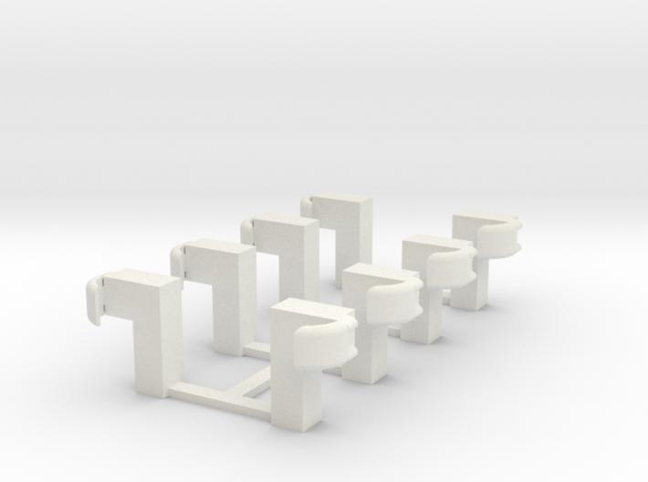 Guardrail - End Posts 3d printed Part # GR-006