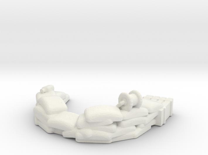 Sandbag Emplacement 1/100 3d printed