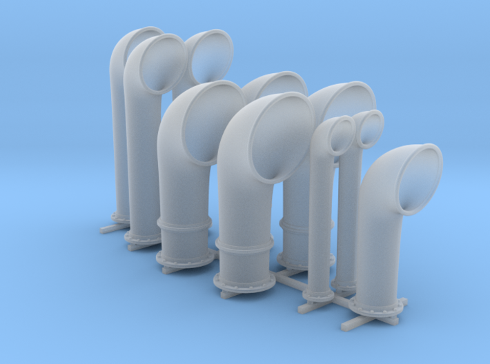 1/48 Scale Flowers Class Small Vent Set (10 Vents) 3d printed 1/48 Scale Flowers Class Small Vent Set (10 Vents)