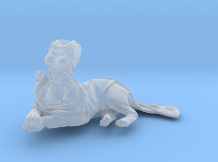 Anthropomorphic female light armor cat taur 2 (HSD 3d printed