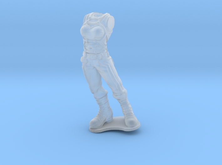 Anthropomorphic female light armor 1(HSD miniature 3d printed