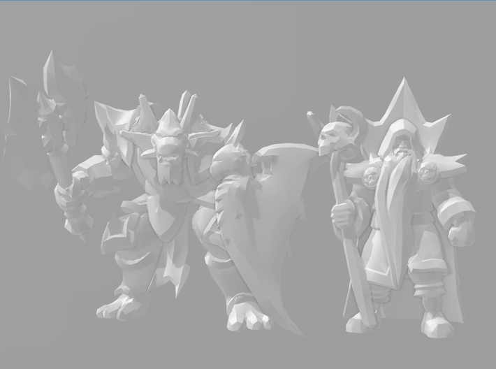 Draconian warrior DnD 1/60 miniature for games rpg 3d printed