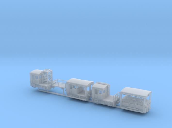 1:220 Set SBB Rhb Schweiz 4x Rangiertraktor 3d printed