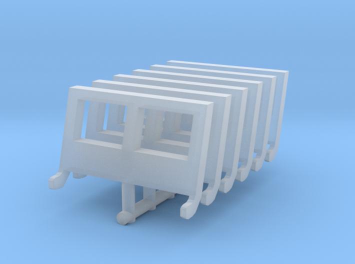 Jeep windshield (x6) 1.100 3d printed