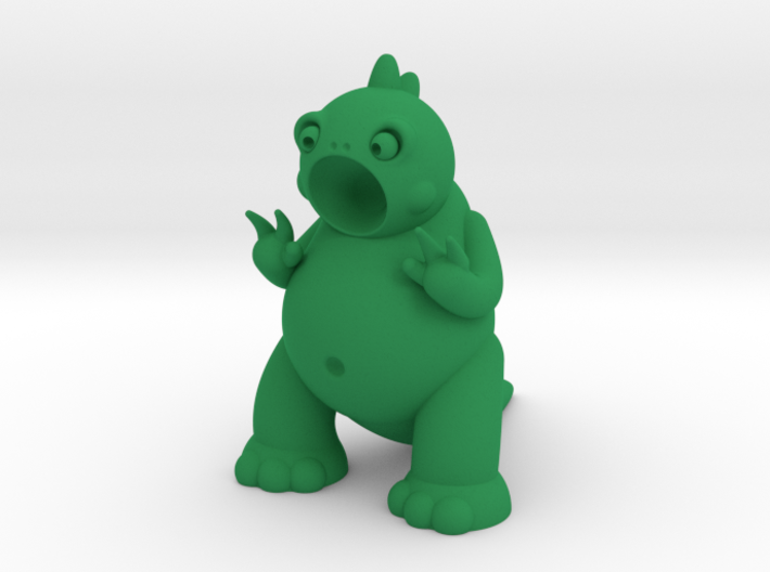 Godric the Tiny Godzilla 3d printed