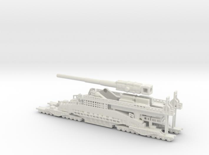 Schwerer Gustav railway artillery 80cm 1/200 3d printed