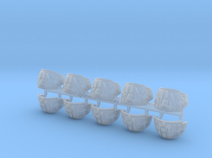 10x Neptune Spears - Brethren Plate (L&R) 3d printed