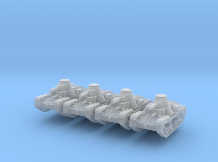 1/200 Ha-Go light tank 3d printed