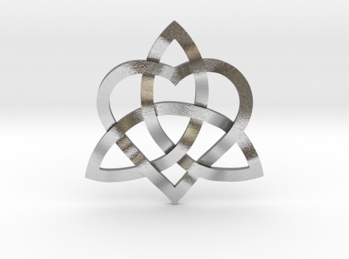 "Infinity Love pendant 1"" 3d printed"
