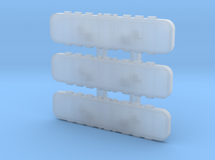 1/87 Light Bars for the generic chassis 3d printed