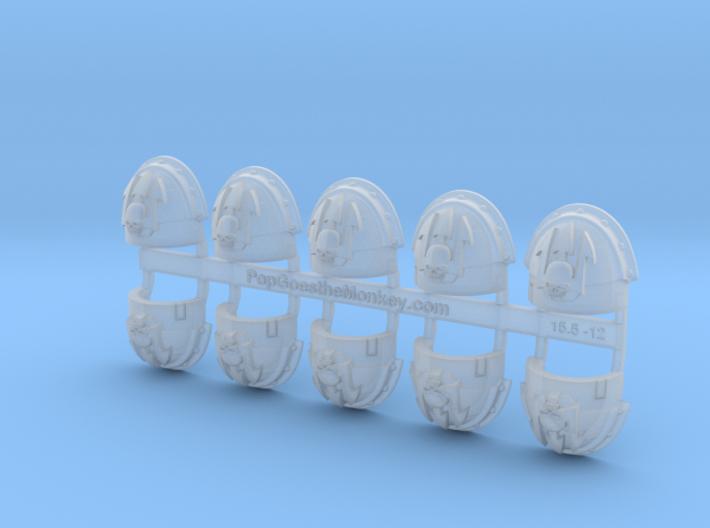 10x Neptune Spears - Stormguard Pauldrons 3d printed