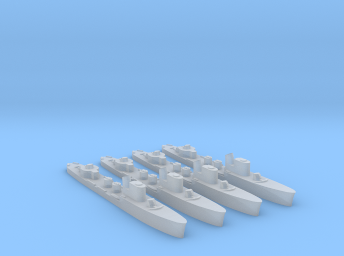 4 pack Spica class WW2 torpedo boat 1:3000 3d printed