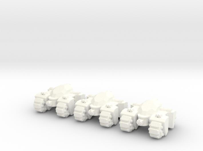 6mm - Quad Spine 3d printed