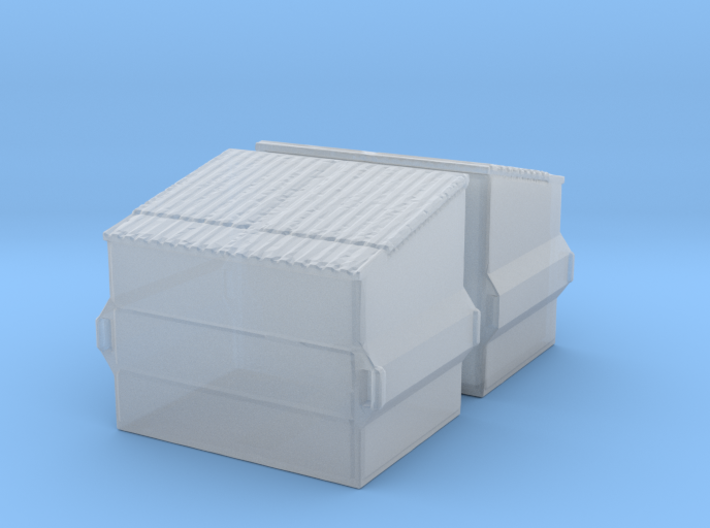 Dumpster (2 pieces) 1/200 3d printed