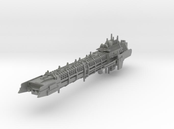 Imperial Legion Long Battle-Barge - Armament Conce 3d printed