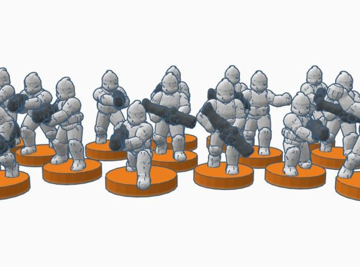 1st Army GMO Troopers 3d printed